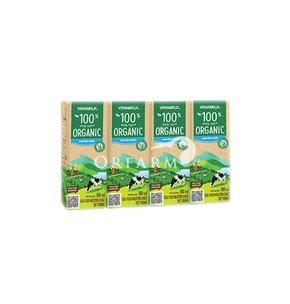 Sữa tiệt trùng không đường Organic 180ml