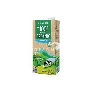 Sữa tiệt trùng không đường Organic 1 lít