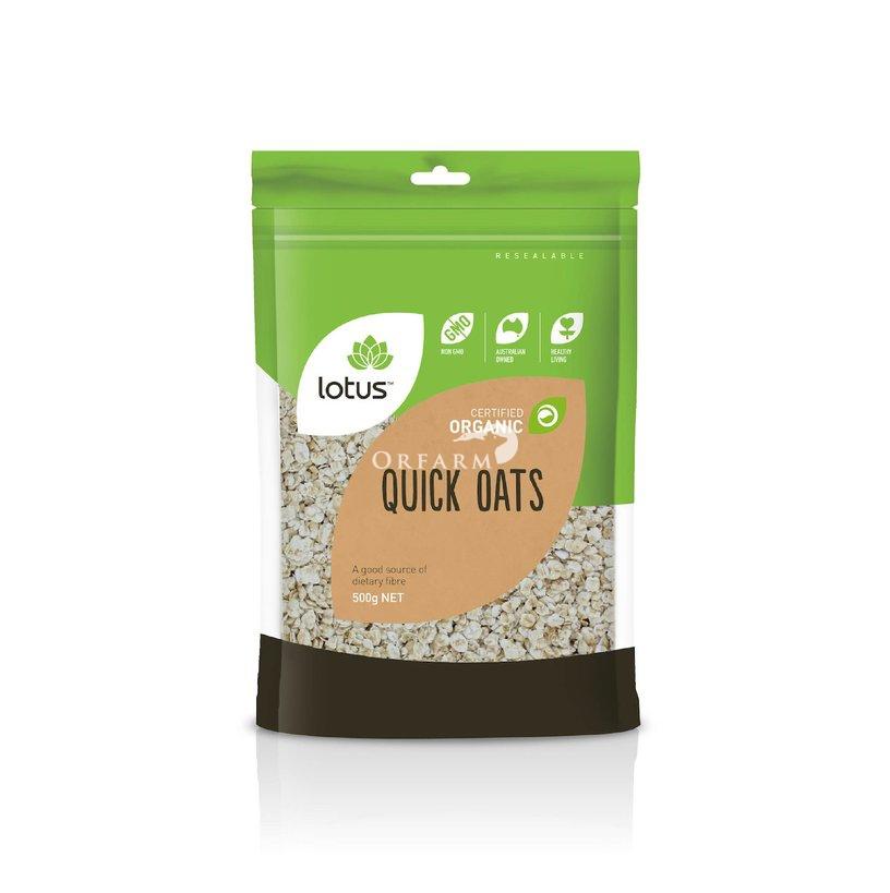 Yến mạch hữu cơ nấu nhanh (Quick Oats) Lotus